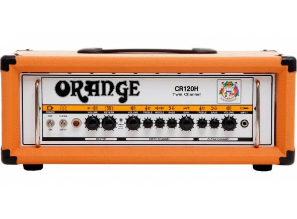 Cabeças de Guitarra Eléctrica a Transístores Orange Crush CR120H