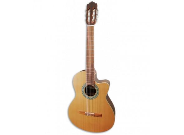 Guitarras clássicas eletrificadas Paco Castillo  220 CE Equalizador Cutaway Cedro Sapele