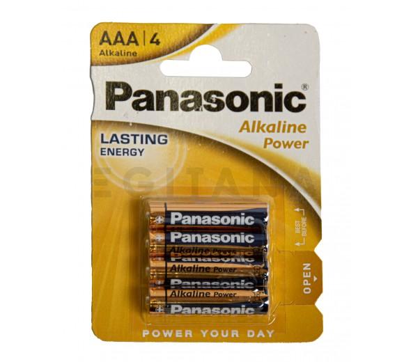 Pilhas Panasonic Pilha Alcalina 1.5V Lr03 Aaa Powerline 4