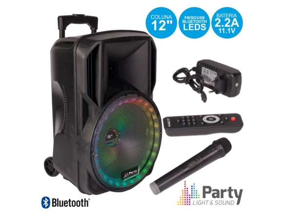 Sistemas Portáteis com Bateria Party Light & Sound COLUNA AMP 12