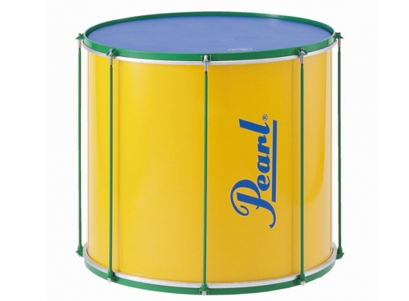 """Pearl  Instrumento de Samba Surdo  PBL2222 Amarelo 22'x22  Instrumento de Samba Surdo Pearl PBL2222 Amarelo 22""""x22"""" Saber mais Os Surdos da Pearl são a voz grave e base da sua linha de percussão brasileira. Os cascos leves de madeira proporcionam horas de toque confortável quando usado ao ombro com a correia fornecida. Disponíveis nos tamanhos 18 """"x 22"""", 20 """"x 18"""" e 22 """"x 22"""" (diâmetro x profundidade) e incluem peles de 2 camadas com uma camada exterior de couro sintético para frequências low–end acentuadas."""