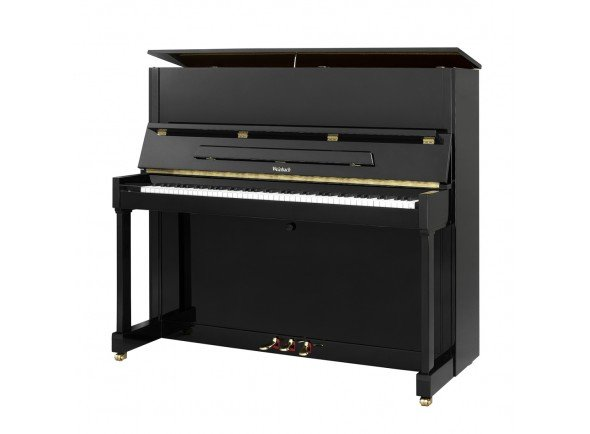 Weinbach WE 114   Piano Vertical Weinbach WE 114  Weinbach modelo 114 piano em preto de cetim refinado.  Um grande exemplo de um bom piano de som com um acabamento polido. Este piano atenderá pianistas emergentes e experimentados à procura do grande som produzido por esses pianos.  Um modelo muito popular com boa clareza e grande profundidade de tom.  Este piano tem um pedal de prática que pode ser bloqueado durante a reprodução para reduzir o nível de volume.  Dimensões: 143 cm L x C 114 cm H x 59 cm D
