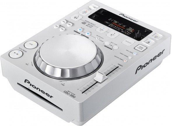 Pioneer CDJ-350-W  Leitor de CD's Branco com USB. Compatível com o software de gestão de músicas Recordbox.