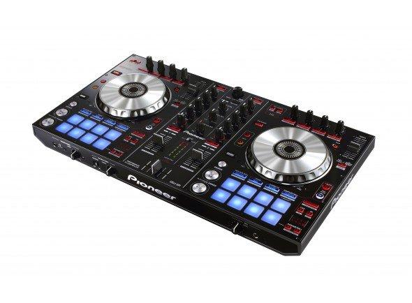 Pioneer DDJ-SR  Controlador derivado do DDJ-SX, software Serato DJ com botões e pads pré-mapeados, sound card Serato integrado.