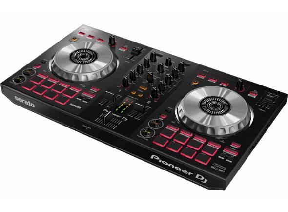 Pioneer DJ DDJ-SB3    Controlador profissional de 2 canais para DJ  Placa de som integrada  16 pads táteis retro-iluminados / Efeitos integrados  Jog-Wheels optimizadas de tamanho pequeno / Conexão para microfone  Software Serato DJ Intro incluido