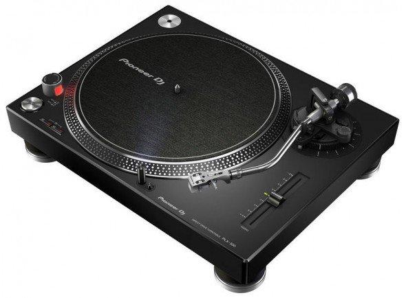 Pioneer PLX-500-K    Gira-discos profissional  Tracção direta / Variação de pitch  Torque: 1.6 kg  Inclui ligação USB que premite a conversão para MP3  Inclui tampa em acrilico e agulha