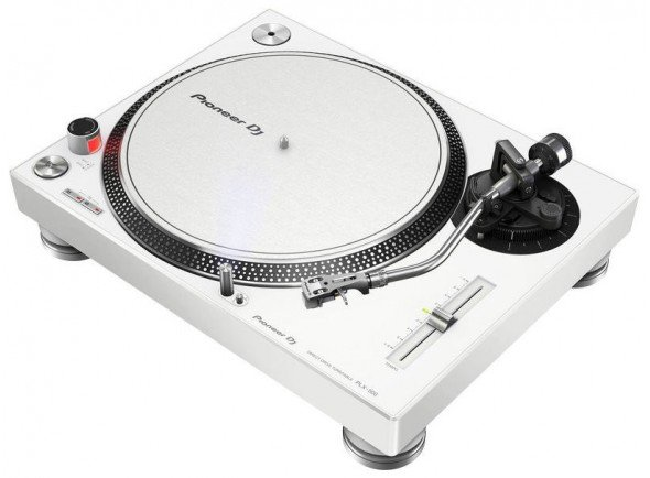 Pioneer PLX-500-W   Gira-discos profissional de acionamento direto. Cor Branca.