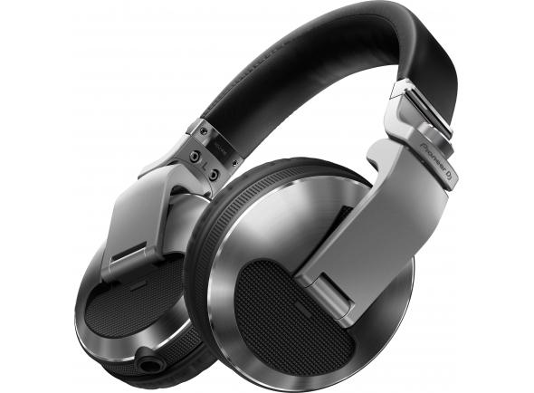 Pioneer HDJ-X10-S  Auscultadores profissionais sobre o ouvido de alta qualidade para DJ (prateado)