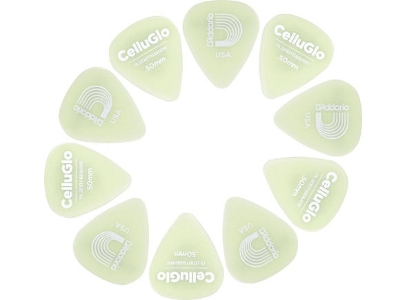 Palhetas para guitarra Planet waves 1CCG2-10 Cellu-Glo Picks Light