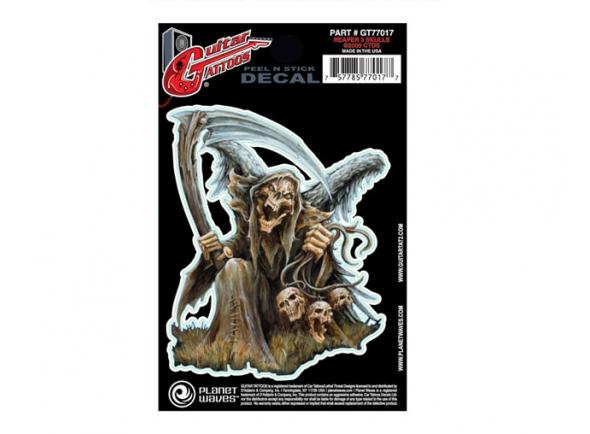 Acessórios para guitarra Planet waves  Autocolante guitarra  GT77017 Guitar Tattoo Reaper 3 Skulls