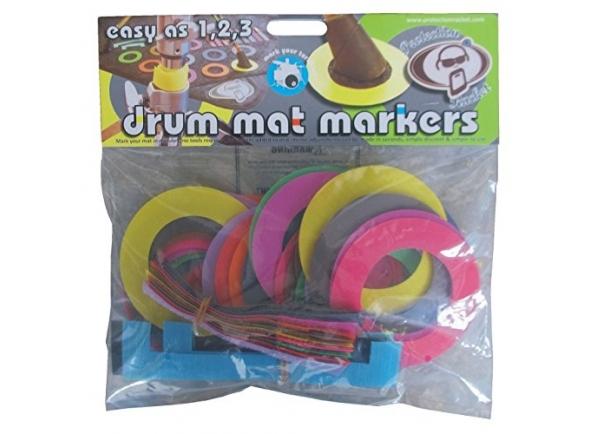Acessório diversos para baterias acústicas Protection Racket Drum Mat Markers Coloured
