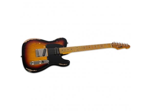 Guitarras formato Single Cut ESP LTD TE-254 Distressed 3 Tone Sunburst