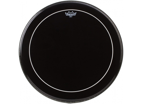 Remo 24 Pinstripe Ebony Bass Drum