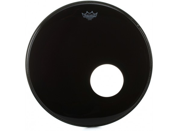 REMO Powerstroke 3 Ebony Bass, 5 Black DynamO Installed 20