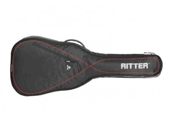 RITTER RGP2 C  Saco para guitarra acústica e clássica RITTER RGP2 C - Saco almofadado 10mm