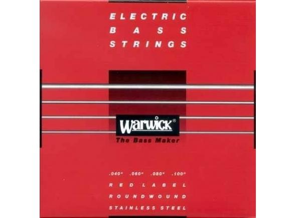 Jogo de cordas .040 para baixo elétrico de 4 cordas Rock Bass - Warwick 42210 ML Red Label .040-.100