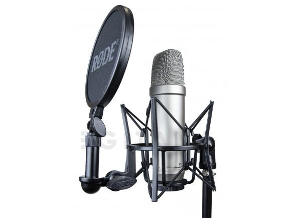 Microfone de membrana grande Rode NT1-A Complete Vocal Recording B-Stock