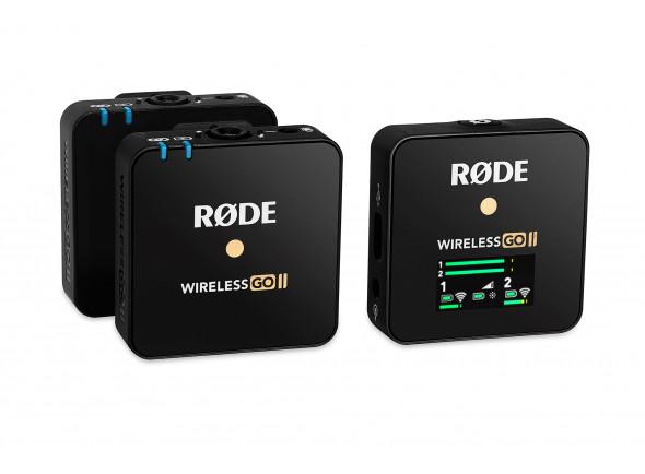 Sistema sem fio com microfone lapela Rode  Wireless GO II