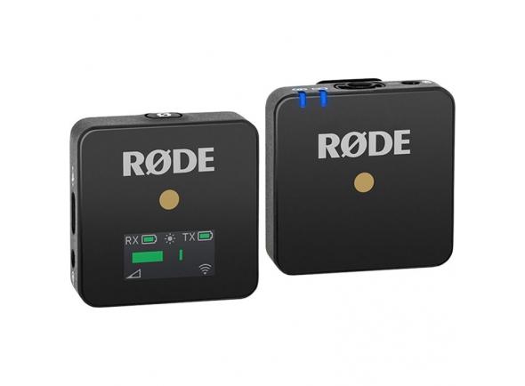 Sistema sem fio com microfone lapela Rode Wireless GO