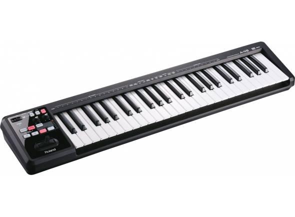 Teclados MIDI Controladores Roland A-49 Preto