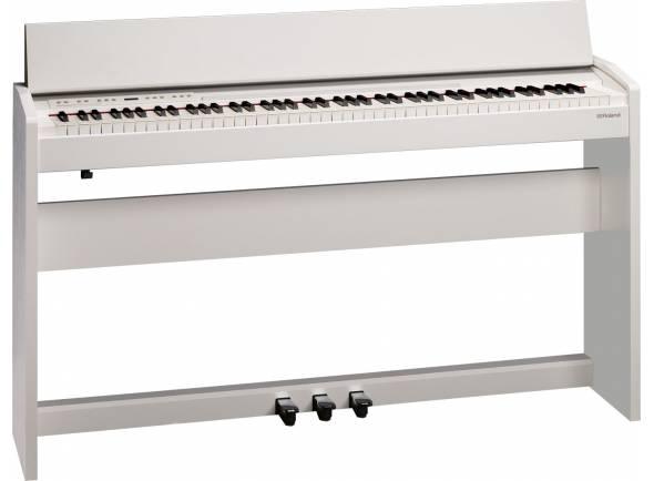 Roland F-140R WH   Roland F-140R WH com tecnologia inovadora da Roland num instrumento que se distingue pelo estilo, acessibilidade e tamanho compacto  Piano com tecnologia SuperNATURAL que oferece o som rico e genuíno de um piano de cauda acústico  Teclado standard PHA-4 que proporciona o máximo de sensibilidade para maximizar o vasto potencial tímbrico do gerador de som dum piano SuperNATURAL  Funcionalidade sofisticada de ritmos, integrada, com acompanhamentos vários: 72 estilos diferentes de ritmos, incluindo 6 estilos de pianista  Explora um universo de instrumentos para além do piano acústico com 305 sons adicionais que incluem pianos elétricos, instrumentos de cordas, sopros, órgãos, guitarras, sintetizadores e muitos outros  Tecnologia Headphones 3D Ambience que oferece uma experiência de som multidimensional para desfrutar dos seus auscultadores enquanto toca em privacidade  Ligue o seu telemóvel ou tablet através de tecnologia Bluetooth sem fios para mudar as páginas da pauta enquanto toca