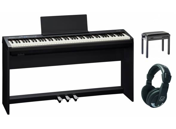 Piano Digital Roland FP-30 BK Home Bundle