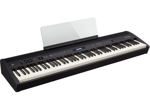 Roland FP-60 Bk B-Stock    Piano Roland FP-60 BK Black - Performance de piano sem compromisso, para casa, palco e estúdio  Módulo de sons de Piano SuperNATURAL com polifonia a 288-vozes, para verdadeiro som e resposta de piano acústico  Teclado PHA-4 com escapement e teclas com Ivory Feel, para um toque inspirador de grand piano  Ligação sem fios Bluetooth a smartphone ou tablet e toca a acompanhar as tuas músicas favoritas através do sistema de colunas do piano  Sistema interno avançado de colunas produz som rico e poderoso para tocar em casa e performances íntimas ao vivo  Inclui também sons de pianos elétricos, cordas, órgãos e sons de sintetizadores dos instrumentos de referência da Roland  Melhora as performances e sessões de exercícios com a aplicação Piano Partner 2 da Roland e cria música com o GarageBand da Apple para iOS, e outras aplicações musicais de sucesso  EQ de três bandas com controlos dedicados no painel frontal  Pedal de damper DP-10 incluído; compatível com pedal triplo RPU-3, opcional  Suporte KSC-72 opcional e unidade de pedal triplo KPD-90 dão uma combinação-elegante para a utilização em casa  Disponível com acabamento em preto e branco