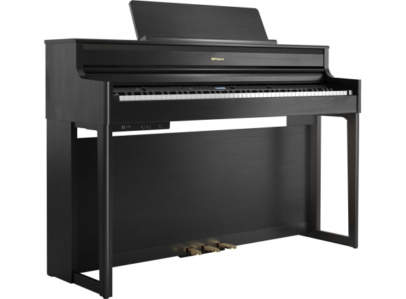 Pianos Digitais de Móvel Roland HP704 CH Charcoal Black
