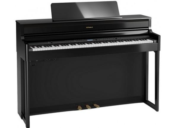Pianos Digitais de Móvel Roland HP704 PE Preto Polido