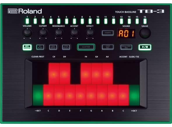 Módulos de som Roland TB-3 Touch Bassline