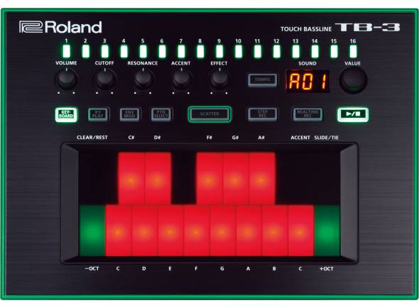 Roland TB-3 Sintetizador Touch Bassline