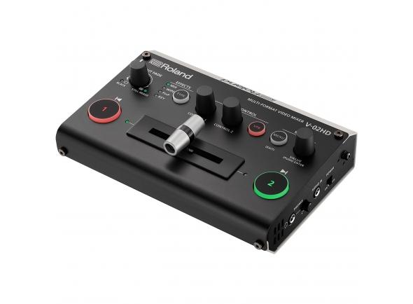 Roland V-02HD B-Stock   Switcher, scaler, expander — com processamento de áudio e efeitos de vídeo  Normalmente, eventos ou produções apresentam desafios sérios que são facilmente resolvidos — se possuíres o equipamento certo. O versátil misturador de vídeo multi-formato V-02HD da Roland substitui várias unidades individuais; um simples switcher, scaler de alta-qualidade, expander de entrada, solução áudio e efeitos de vídeo inline / composição. Economiza espaço e evita dores de cabeça com o V-02HD; o dispositivo portátil e poderoso que te permite concentrar na produção do teu evento ou na gravação das tuas cenas, e não na resolução de problemas com o teu equipamento.