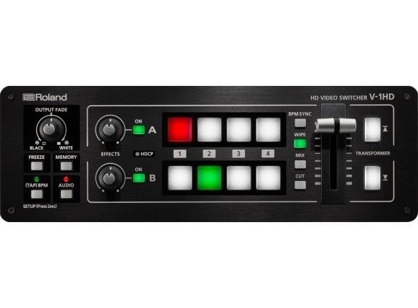 Roland V-1HD B-Stock   O V-1HD torna fácil conectar e fazer switch de câmeras de vídeo, smartphones, computadores, tablets, Blu-ray players e outras fontes de vídeo HDMI