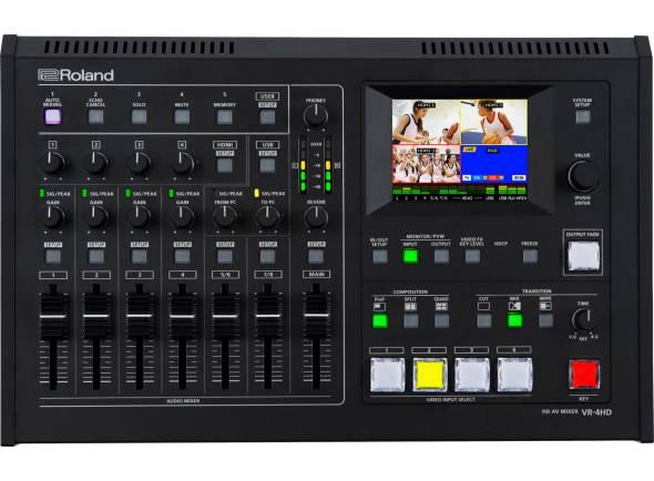 Roland VR-4HD  Mesa Mistura Áudio Vídeo Roland VR-4HD.Um Mixer completo para A/V em HD com USB 3.0 para Gravação e Streaming na Web