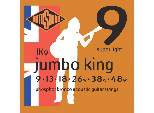 Jogo de cordas .009 Rotosound JK9 Jumbo King
