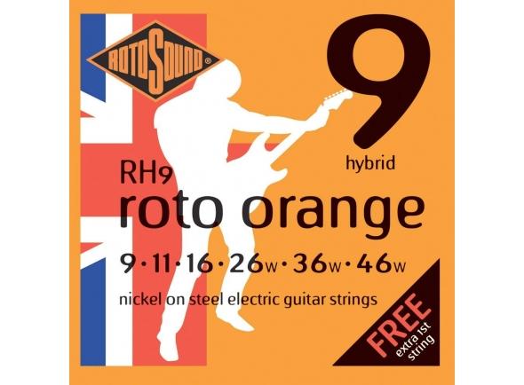 Jogo de cordas .009 Rotosound Nickel Hybrid RH9