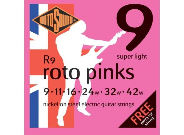 Jogo de cordas .009 Rotosound Nickel Super Light R9