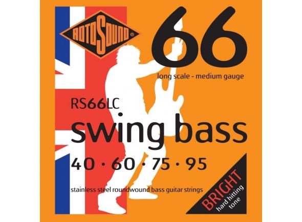 Jogo de cordas .040 para baixo elétrico de 4 cordas Rotosound RS66LC 40-95