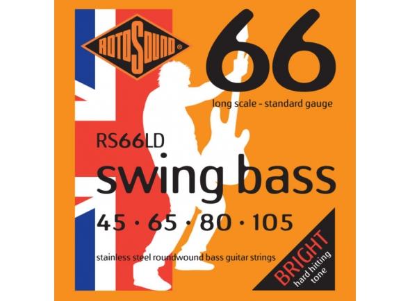 Jogo de cordas .045 para baixo elétrico de 4 cordas Rotosound RS66LD