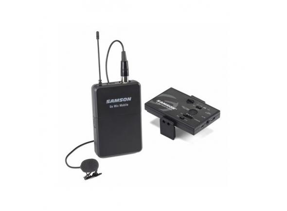 Sistema sem fio com microfone lapela Samson Microfone de Lapela Wireless Go Mic Mobile