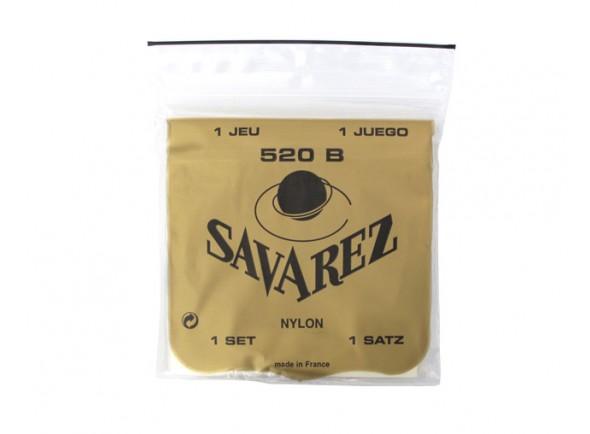 Cordas para guitarra clássica Savarez Jogo de Cordas Guitarra Clássica 520B