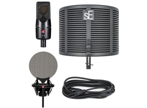 Microfone de membrana grande SE Electronics X1S Studio Bundle