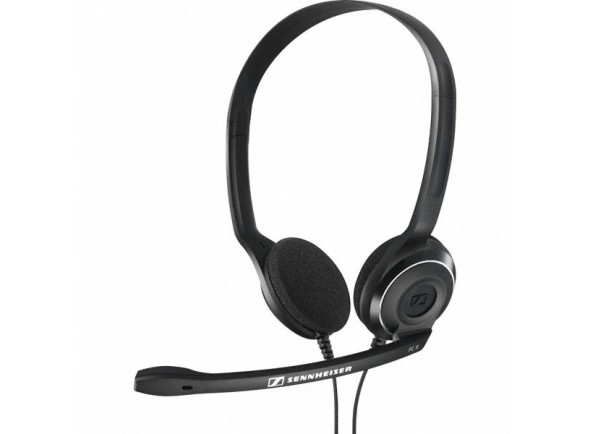 HeadSets com Microfone Sennheiser Headset PC 8 USB Preto