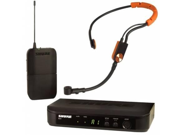 Sistema sem fio com microfone de cabeça Shure BLX14/SM31