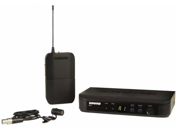 Shure BLX14/W85  Inclui 1 Microfone de Lapela WL185, 1 Transmissor Bodypack BLX1 e 1 Receptor com Montagem em Rack BLX4R