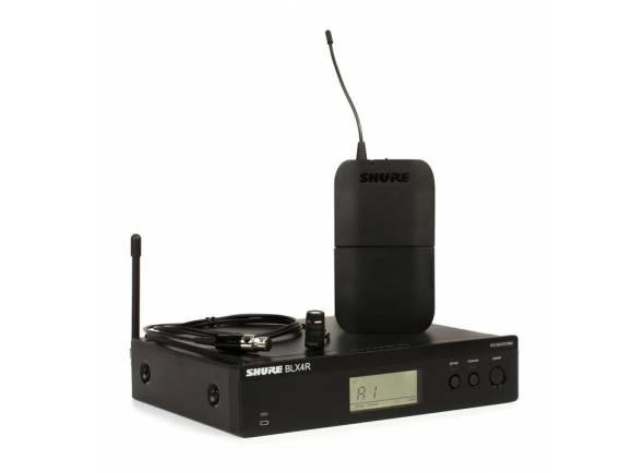 Shure BLX14R/W85  Inclui 1 Microfone de Lapela WL185, 1 Transmissor Bodypack BLX1 e 1 Receptor com Montagem em Rack BLX4R