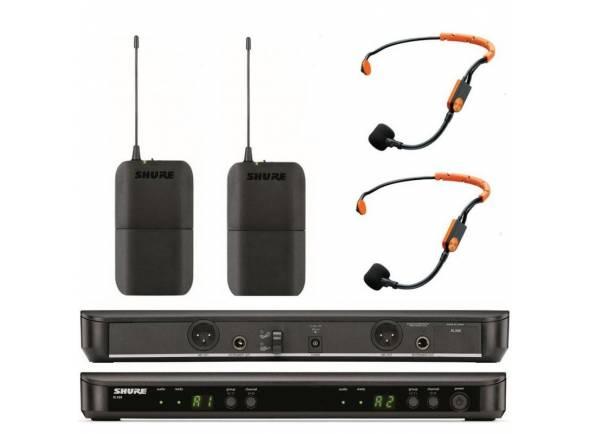 Sistema sem fio com microfone de cabeça Shure BLX188/SM31