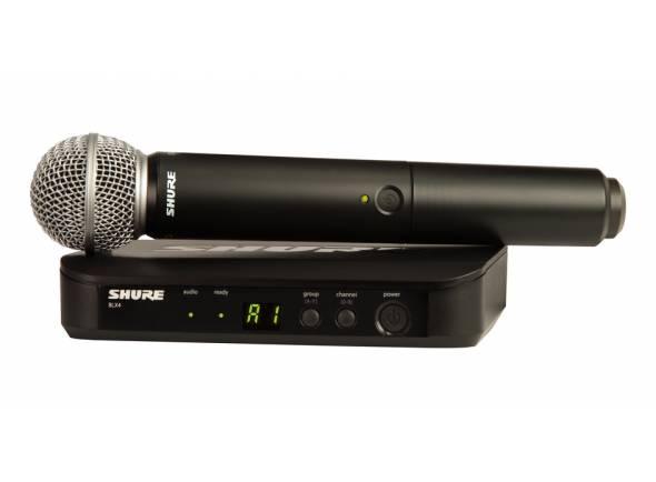 Sistema sem fios com microfone de mão Shure BLX24/SM58