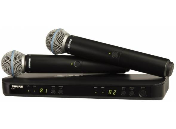 Sistema sem fios com microfone de mão Shure BLX288/B58