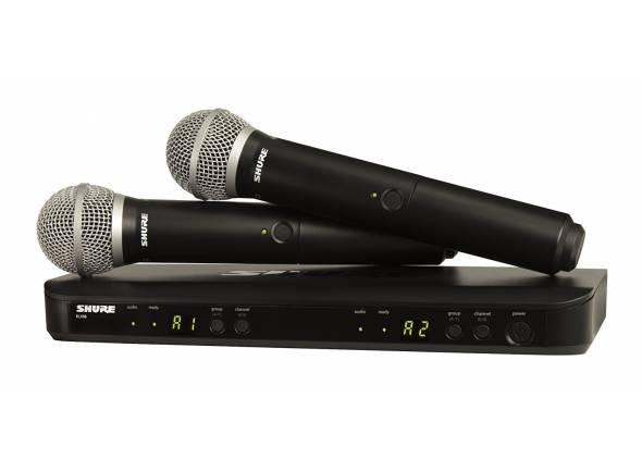 Sistema sem fios com microfone de mão Shure BLX288/PG58 Combo S8